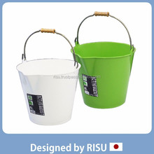 Reliable and Various garden bucket plastic bucket with handle, wholesale risu