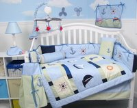 Baby Sailboat Baby Crib Nursery Bedding 10 pcs Set