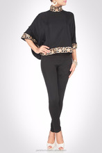 BLACK KIMONO SLEEVE TOP SPRUCED WITH SEQUINS