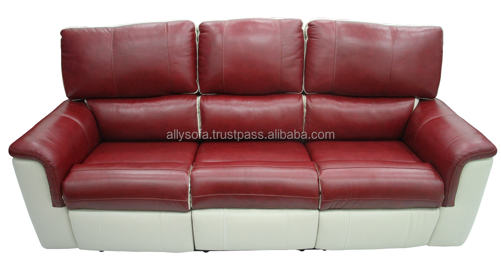 Motion Recliner 3 seater Glider leather & PVC sofa with Modern Design Furniture 003705734