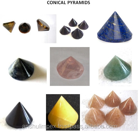 Chakra Onyx Orgone Energy Pyramid with Crystal Point for Orgone Healing