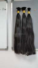 Top selling Double straight bulk Viet Nam high quality hair 100% remy 70 cm