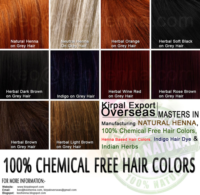 Herbal Light Brown Chemical Free Hair Color