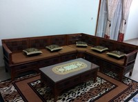 Kursi Sudut Kayu Jati Minimalis Modern Classic Ukiran Asmat Living Room Sets Family Chair Jati Wood Asmat Carving