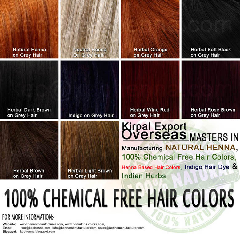 Henna Herbal Colors, 100% PPD Free Hair Dye