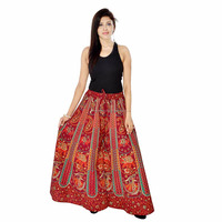 Indian Women's Print Divider Skirt