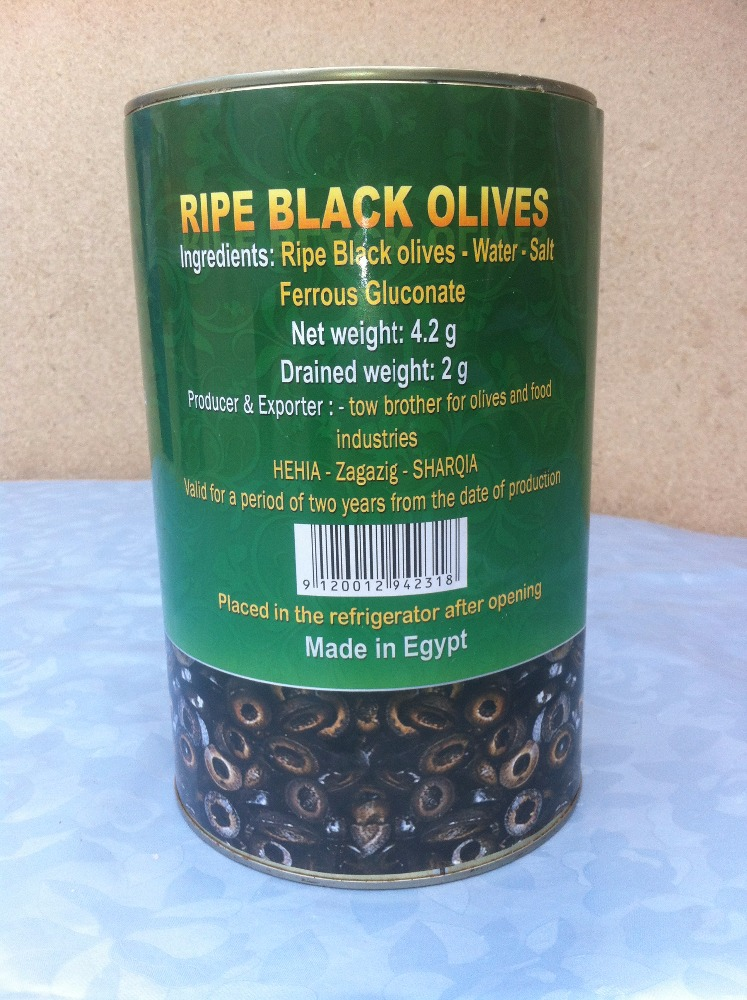 sliced ripe black olives