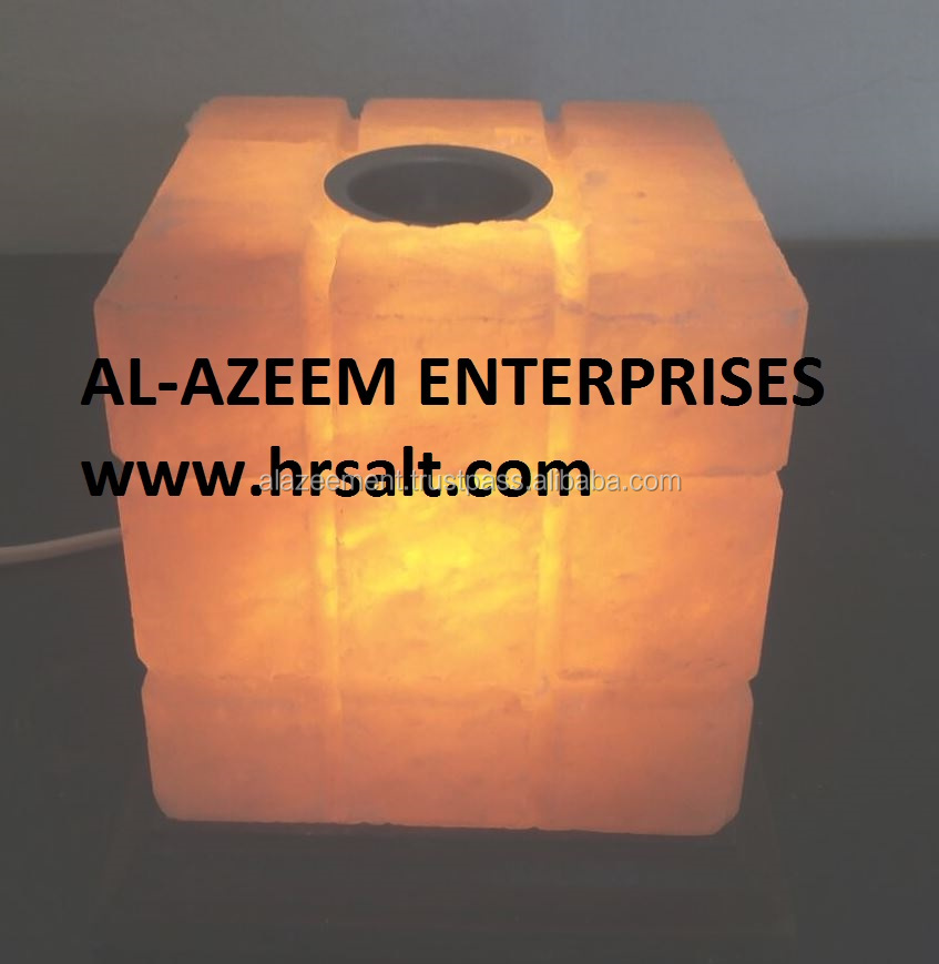 Lined Cube Fine Quality Himalayan Aroma Therapy & Natural Air Oil Diffuser / Unique Salt oil burners Pakistan