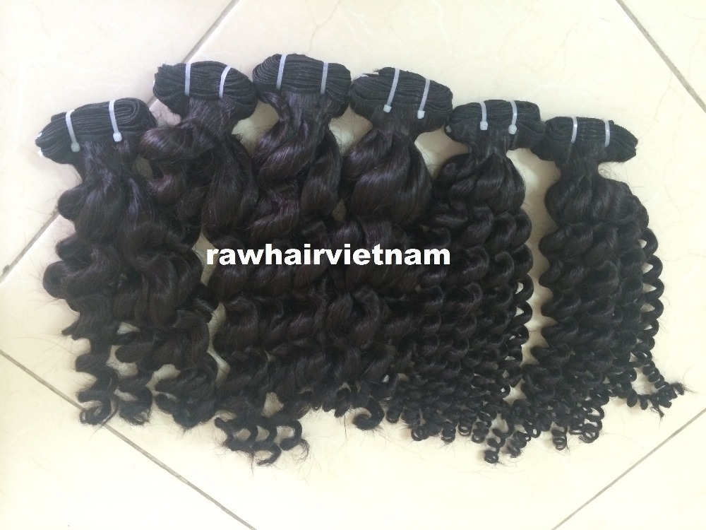 Double drawn hair bundles 100g/pac 8''-32'' intact remy curly human hair extension