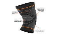 soft breathable knitting fabric for volleyball cotton bamboo charcoal orthopedic hinge knee support leg compression sleeve