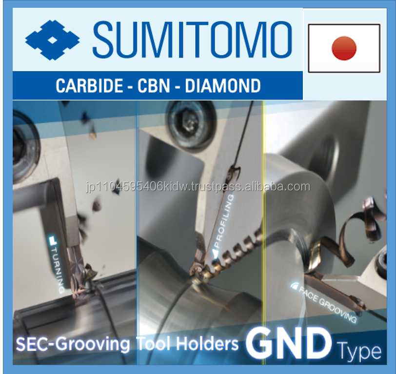 Accurate and Reliable drills Sumitomo grooving for high rigidity made in Japan