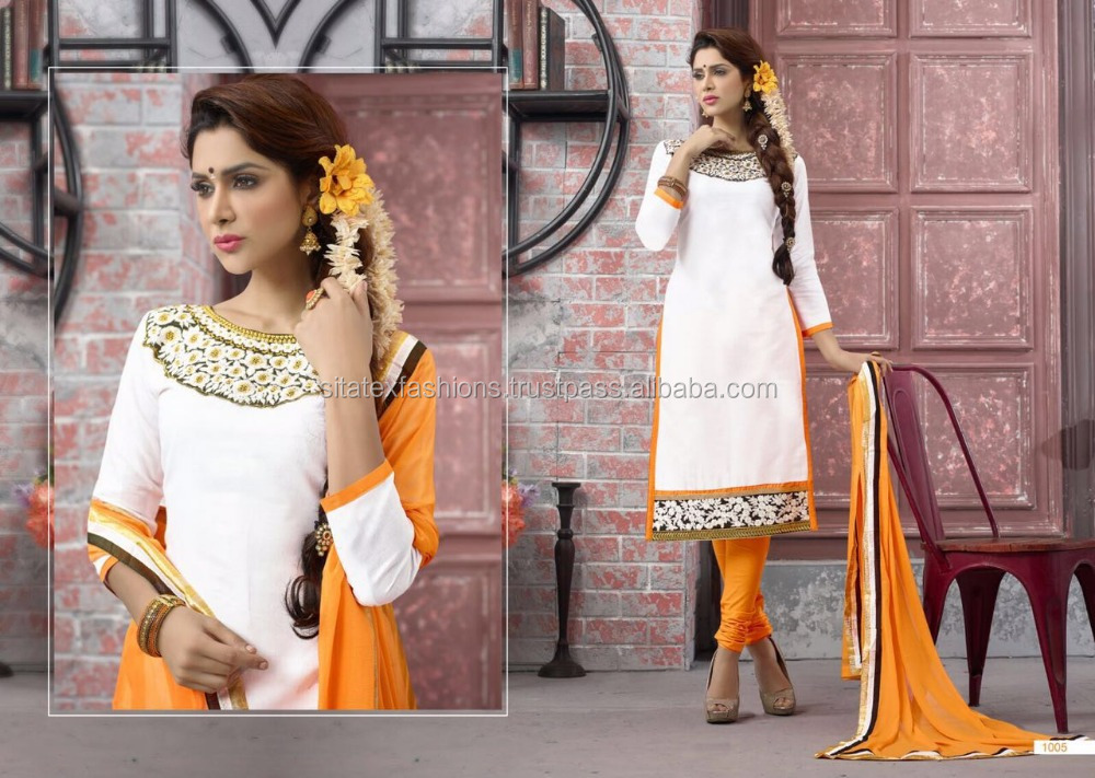 Designer Dress Material in Embroidery Stitches Salwar Suits