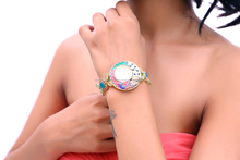 Fashion beautiful peacock design ladies bracelet watch