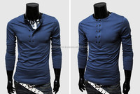 LUKE APPARELS- NEW MEN HOT SALE 2016 LONG SLEEVES COTTON T SHIRT NEW DESIGN