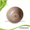 Material Bamboo Eco-friendly Nature Color Big Bamboo Oval Salad Bowl