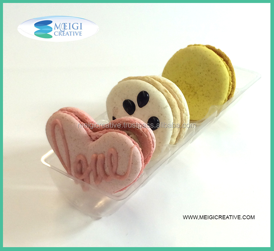 PET Food Grade Custom Macaron Tray Packaging