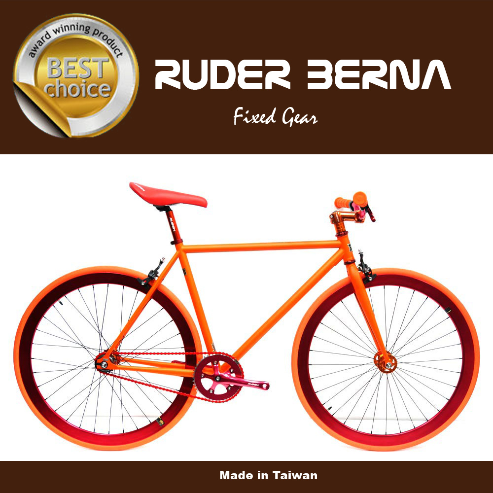 Orange 700C fixed gear complete bike