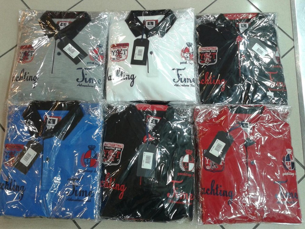 100000 in Stock Cotton polo shirts custom print embroiderys made Logo Yahting time Branded shark S-3XL