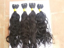 Hot Selling 100% Human Hair Natural Color 1B Unprocessed Virgin Indian Curly Hair