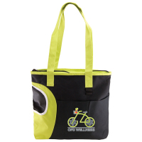 Crescent Pocket Tote Bag - comes with a crescent-shaped pocket for bottles and your logo.