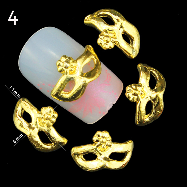 Hotselling 3d metal alloy halloween decoration for nail art diamond rhinestone