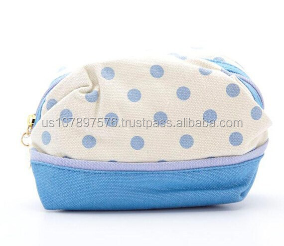 Canvas cosmetic wash bag