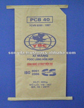 Brown 3 layers cement bag good price