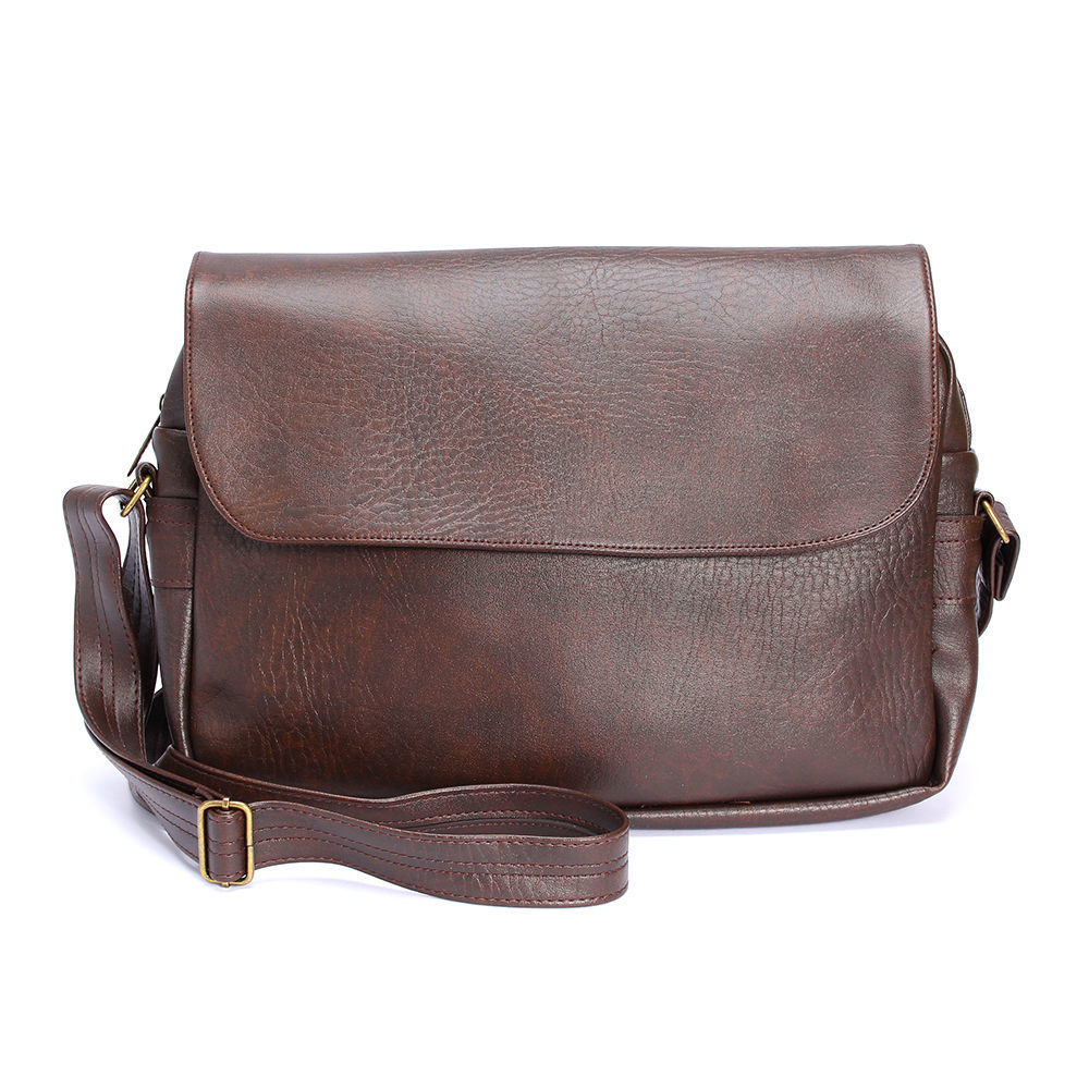 Latest High Quality Dark Brown PU Bag For Men
