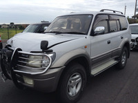 CHEAP USED CAR IN JAPAN FOR TOYOTA LAND CRUISER PRADO TX WIDE 1999 KZJ95W (ACCIDENT CAR)