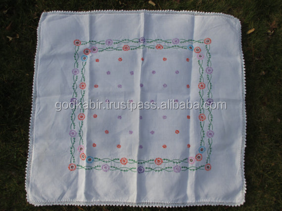 High demand Wholesale Embroidered Table Cover from Crete, Cotton Design Based Table cover/Vintage Tablecloth Table Cover 1940.