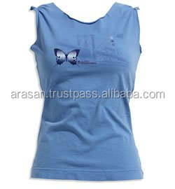 latest design girls top 100% cotton knitted