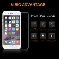 Tempered glass for iPhone 6S 9H 2.5D 0.26 mm mobile phone Tempered Glass screen protector for iPhone 6