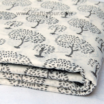 Tree Printed Beautiful Indian Wholesale Cotton Dressmaking Fabric