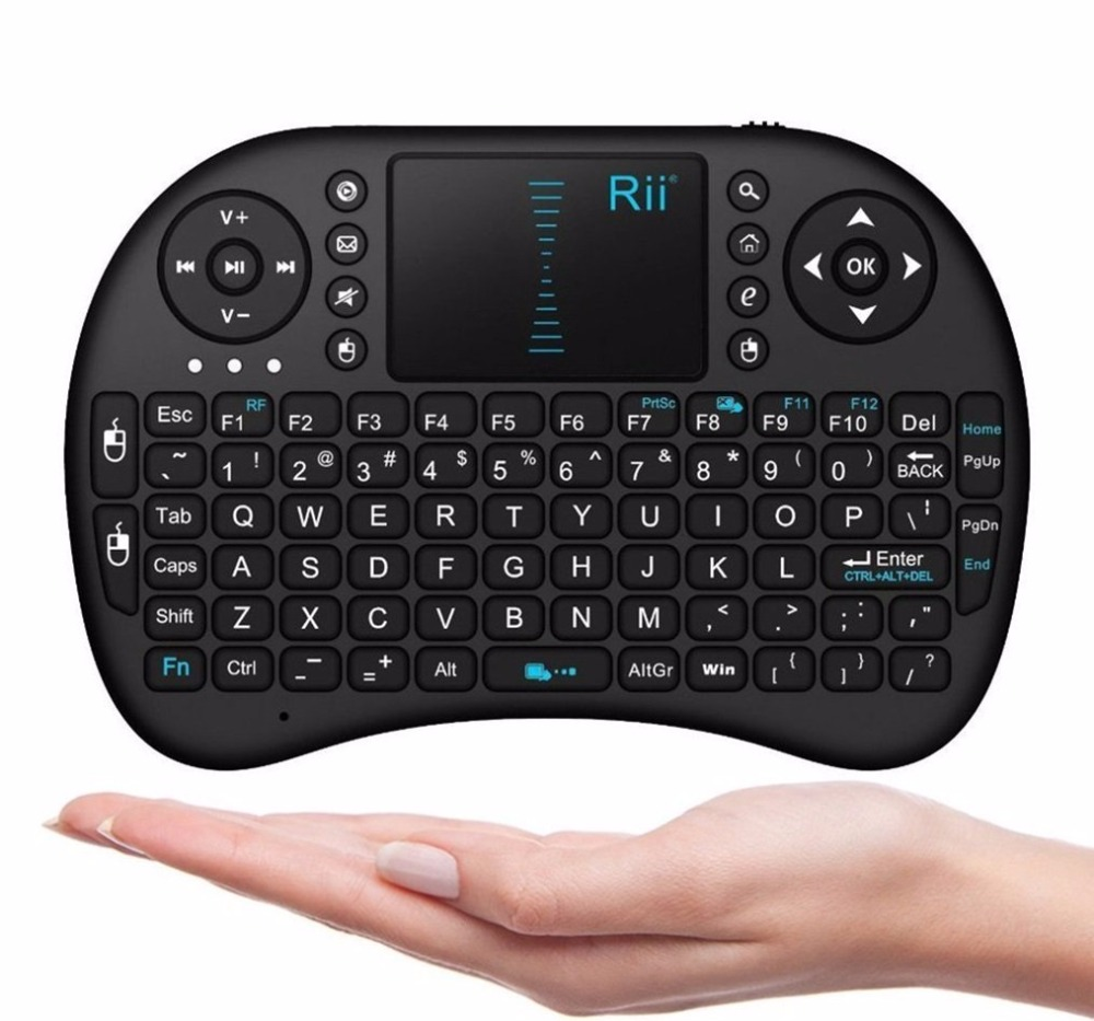 2017 New Rii i8 Mini 2.4Ghz Wireless Touchpad Keyboard With Mouse for Android Box