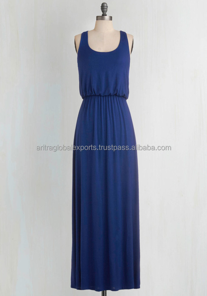 Breezy Night Stroll Dress in Blue