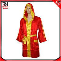 Long length satin boxing robes with hood, Factory Prices