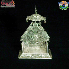 Singhasan for your lord hindu religious white metal gifts items