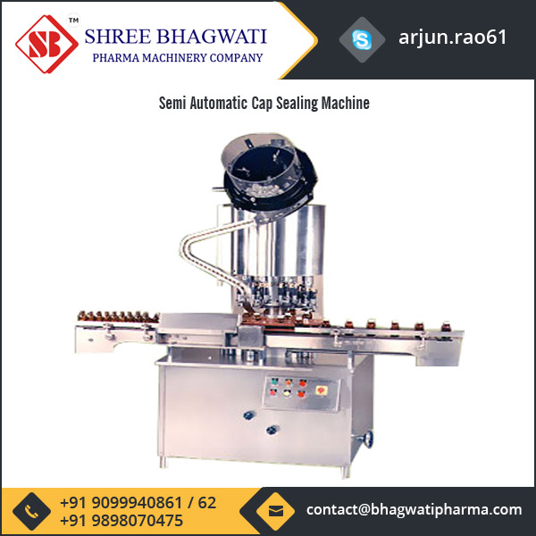 Advance Technologically Made Semi Automatic Cap Sealing Machine for Sale
