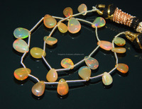 Natural Welo Ethopian opal pear shape gemstone necklace