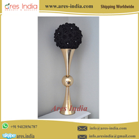 Exotic Gold Finish Metal Flower Vase For Wedding Table Centerpieces, Home, Event, Party Decoration