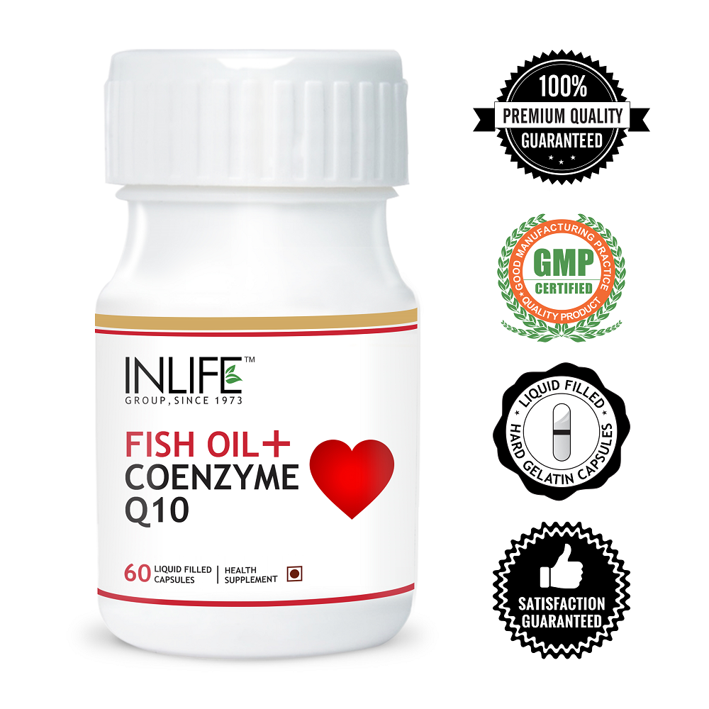 Fish Oil 450mg with Coenzyme Q10 30mg Liquid Filled Hard Capsule (GMP Certified)