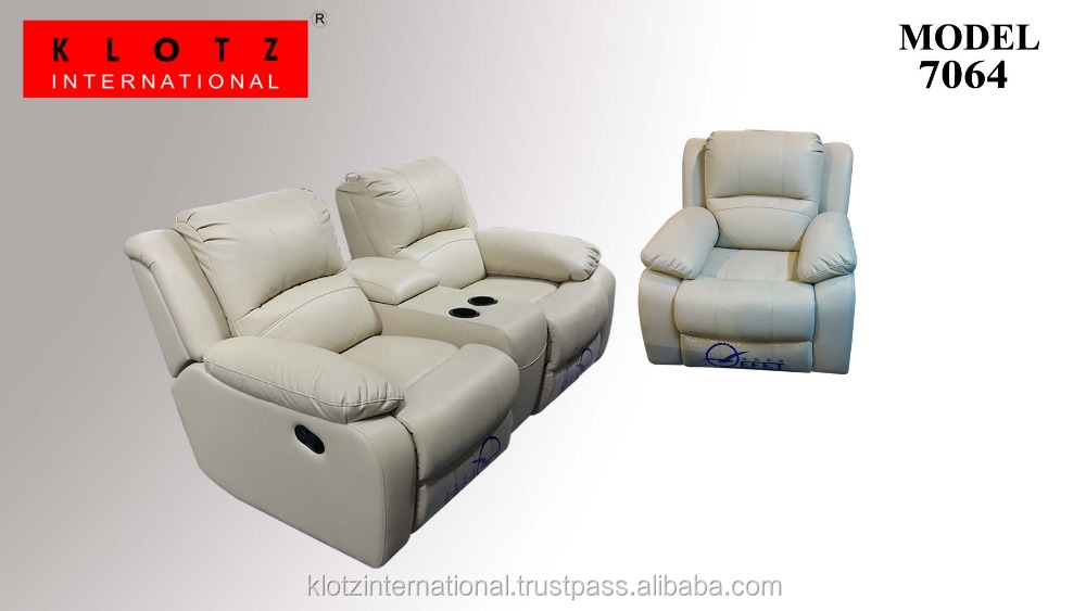 Modern Style Recliner Sofa with Cup Holders 7064