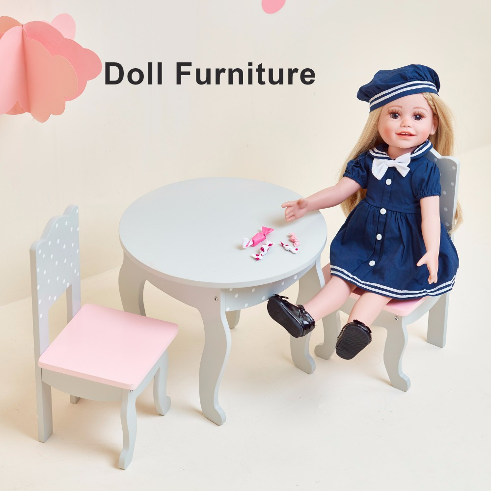 Olivia's Little World - Princess Sweet Kitchen (Pink) | Wooden 18 inch Doll Furniture