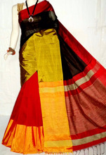 hanloom silk soft cotton saree
