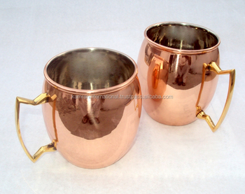 BPA FREE NICKLE LINED AMAZON 16 OZ BPA FREE 100% COPPER MOSCOW MULE MUG GIFT SET OF 2 MUGS