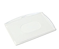Plastic case, card holder - transparent