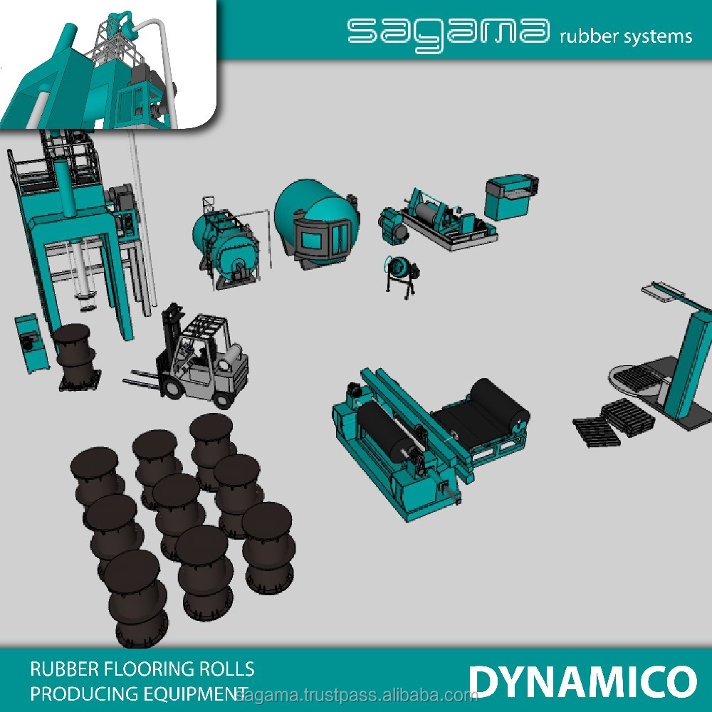 "Best price ""SAGAMA Dynamico"" Russian rubber flooring cover making machine"