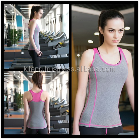 INSTOCK Razor Back two Tone Yoga Sports Tank Top