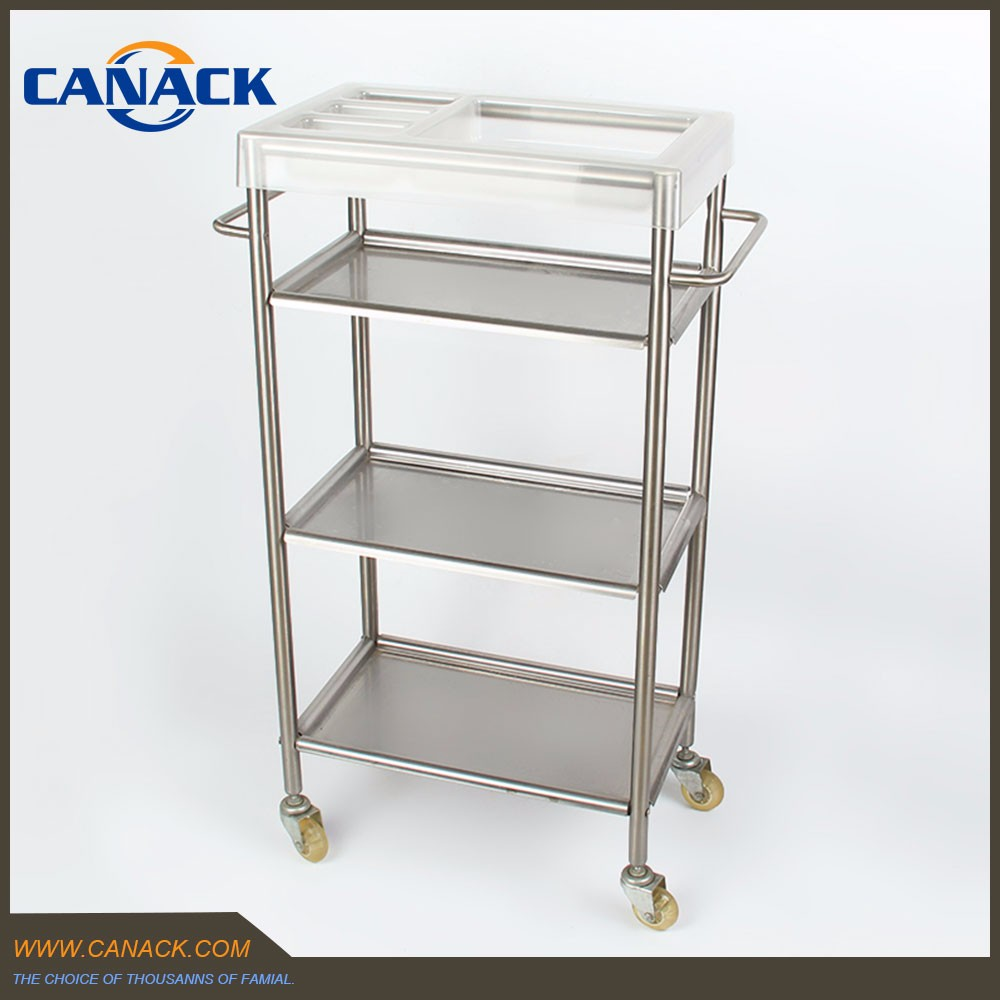 Stainless Steel 3 Tier Bathroom Cart with Wheels
