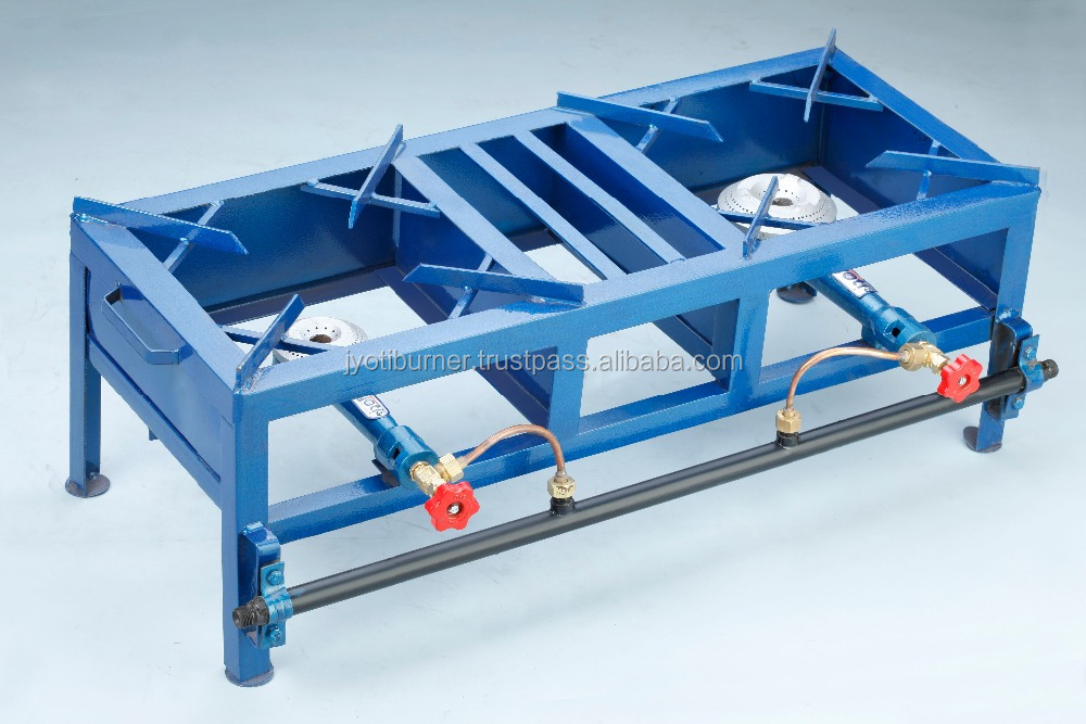 FABRICATED DOUBLE GAS BURNER STOVE